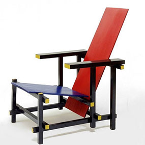 poltrona 635 black red and blue rietveld cassina a2 031 SE